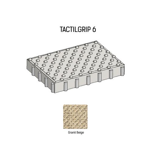 Dalle podotactile TACTILGRIP 6 - Coloris Granit Beige