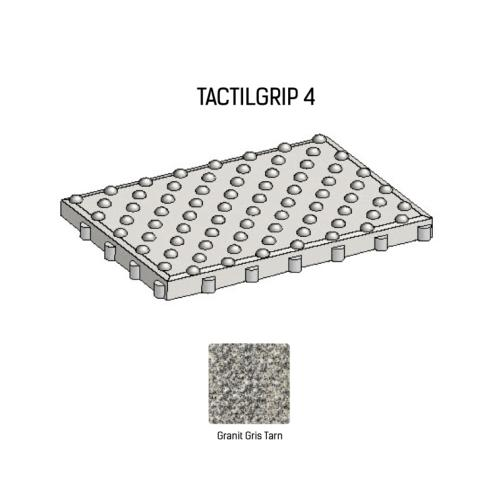 Dalle podotactile TACTILGRIP 4 - Coloris Granit Gris Tarn
