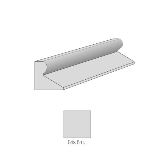 Bordure CITYPROTECT - Type GSS - 1m - Gris lisse