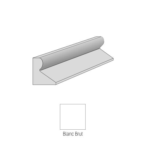 Bordure CITYPROTECT - Type GSS - 50cm - Blanc