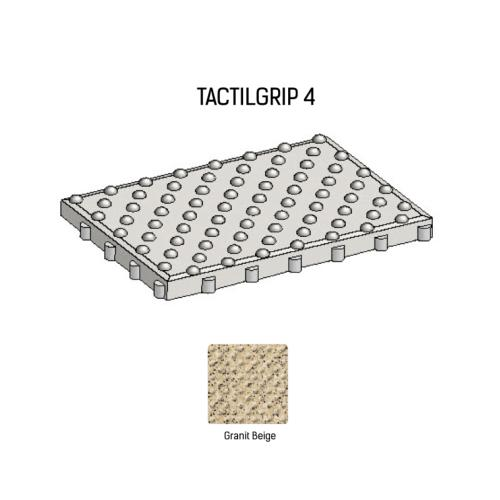 Dalle podotactile TACTILGRIP 4 - Coloris Granit Beige